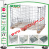Heavy Duty Industrial Wire Mesh Pallet Cage with Wooden Pallet