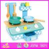 2014 New Play Children Kitchen, Promotional Wooden Kids Kitchen Toy, Intelligent Wooden Kitchen Set with En71 Certificate W10c063
