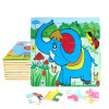 Factory Direct Hot 3D DIY Chindlren Cartoon Wooden Frame Puzzle Educational Toys Elephant