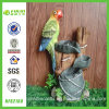 Resin Decorative Home and Garden Parrot Water Fountain (NF82160)