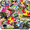 Tsautop 0.5m Width Sticker Bomb Water Transfer Printing Film Hydrographic Water Transfer Printing Film