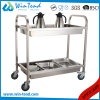 Library Book Hand Push Moving Trolley with Deep Shelves