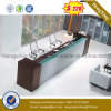 2016 Wooden Office Furniture Melamine Office Desk Reception Table (HX-RT801)