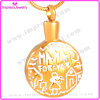 Gold-Plated Cremation Jewelry Urn Pendant Necklace for Ash Wholsesale