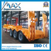 China Low Bed Semi Trailer with 3alxe Semi Trailer