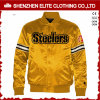 2016 Mens Satin Bomber Jacket Gold