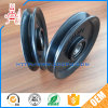 Flat Belt Rubber Covered Bearing Wheel / Chain Pulley with Steel Core