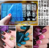 2016 Nail Art Hot New Stamping Image Metal Plates Kit Set Mixed Designs Stamping