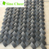 Basket Weave Black Stone Mosaic Tile for Kitchen