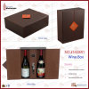 Black & Red Leather Wine Packaging Box (5428 Series)
