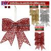 Christmas House Glitterymica Bow Ornaments Christmas Decoration Xmas (CH1051)