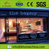 Small Prefab House Prefabricated Bakery Shop with Glass Wall