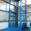Guide Roller Rail Hydraulic Goods Lift with Handrail
