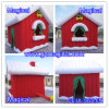 Mini Red Inflatable Christmas House for Santa Claus (MIC-422)