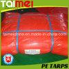 Orange PE Tarpaulin with UV Treated