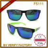 F5111 Plastic Retro Mirrored Sunglasses with UV 400 Wenzhou Factory