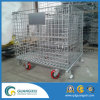Industrial Stackable Steel Mesh Butterfly Cage Galvanized Wire Mesh Container