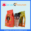 Three-Dimensional Zipper Stand up Plastic Packaging Bag for Snack, Food, Tea, Coffee with Butterfly Hole