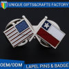 Custom fashion Holder National Flag Shape Metal Badge Lapel Pin