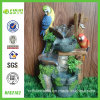 Handmade New Resin Double Parrots Water Fountain (NF82162)