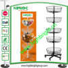 4 Tier Metal Wire Floor Rotating Promotional Display Rack