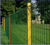 Factory Fence with Peach Post