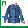 Pearlized Nylon Double Breasted Jacket with Hood (HS20140815-2)