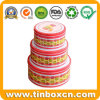 Food Grade Custom Cookies Tin Box Sets Round Biscuit Tins