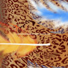 100%Polyester Leopard Feather 3D Disperse Printed Fabric for Bedding Set