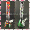 Printing Color Glass Smoking Water Pipe for Tobacco Pipe Beaker