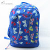 Heavy Padded Blue Butterfly Print Backpack