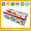 Rectangular Metal Tin Box for Women Cosmetics Storage Container