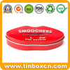 Embossed Lip Shape Sweet Candy Metal Tin Box for Confectionery