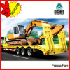 3 Axle 60t Heavy Duty Detachable Lowbed Truck Trailer Manufacturer