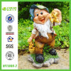 Garden Gnome Figurine for Harvesting Corn (NF11086-2)