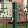 Ce Certificated Welded Curved Wire Fence with Peach Post