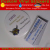 Custom Self Adhesive Vinyl Clear Round Stickers, Clear Label Sticker