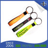 Rubber Silicone Bracelet with Nickel Plated Metal Clip and Keyring