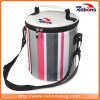 New Fashion Barrel Rainbow Printed Customized Lunch Bag Cooler Bag with Adjustable Shoulder Strap for Picninc