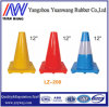 Red and White Reflective PE Rubber Road Traffic Cones with Height 450mm