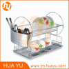 2 Tiers Chrome Stainless Steel Dish Rack for Kitchen Ware