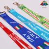 Heat Transfer Logo Printed Ribbon for Neck Lanyard