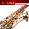 Bb Key Golden Lacquer Finish Professional Tenor Saxophone (ATS4506)