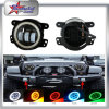 4 Inch LED Fog Light for Jeep Wrangler RGB Function Bluetooth Control LED Fog Lamp with Halo Ring