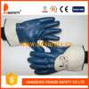 Ddsafety 2017 Blue Nitrile Coated on The Palm and Finger Jersey Liner Gloves