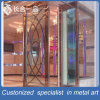 Customized Rose Gold Mirror Security Entrace Door with Tempered Glasses