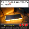 High-Intensity Amber LED Mini Light Bar with Magnet Mount