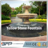 Red/Yellow Marble Carved Stone Water Fountain for Garden Surroudings Decoration