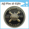 Challenge Coin with Soft Enamel in Silver Plating, Millitary Coin