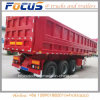 Cimc 3 Axles 45cbm U Dump Tipper Semi Trailer for Africa Market